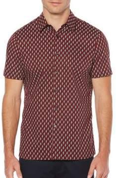 Perry Ellis Bouquet Print Button-Down Shirt
