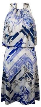 Jessica Simpson Women's Printed Popover Hardware Halter Dress