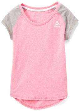 Reebok Azalea Pink Colorblock Tri-Blend Tee - Toddler & Girls