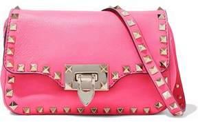 Valentino Rockstud Neon Leather Shoulder Bag