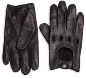 Saks Fifth Avenue COLLECTION Perforated Leather Driving Gloves