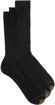 Gold Toe Men's Canterbury Men's's Crew Socks - 3 Pack