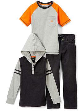 DKNY Caviar Uptown Boy Hoodie Set - Infant, Toddler & Boys