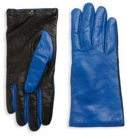 RED Valentino Two-Tone Leather Gloves