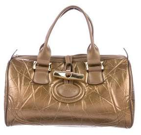 Longchamp Distressed Leather Tote