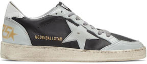 Golden Goose Deluxe Brand Black and Blue Ball Star Sneakers