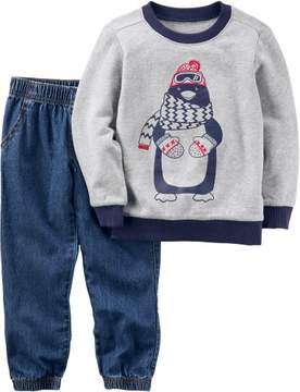 Carter's Baby Boys Penguin Sweater Pants Set