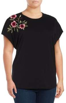 Context Plus Embroidered Cotton Tee