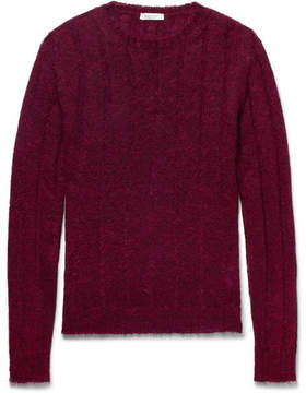 Valentino Cable-Knit Mohair-Blend Sweater