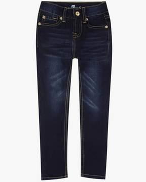 7 For All Mankind Girls 4-6X The Skinny 5-Pocket Stretch Denim Jeans in Tried & True