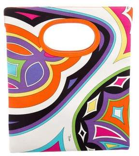 Emilio Pucci Abstract Print Canvas Tote w/ Tags