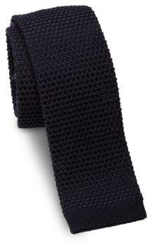 Ralph Lauren Woven Silk Square-End Slim Tie