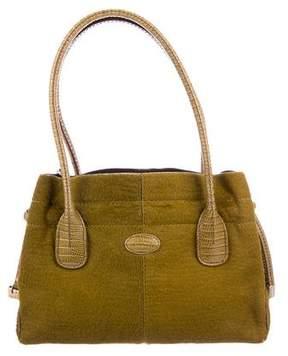Tod's Lizard & Ponyhair D-Styling Bag