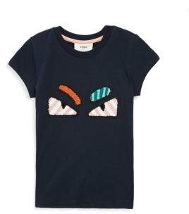 Fendi Little Girl's & Girl's Monster Eye Cotton Tee