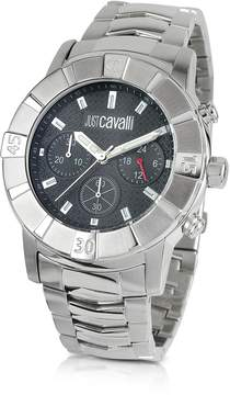Just Cavalli Crystal Gent - Stainless Steel Bracelet Chronograph Watch
