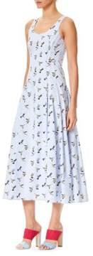 Carolina Herrera Printed Scoopneck Dress