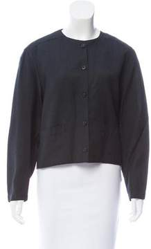Christian Dior Collarless Button-Up Jacket