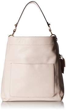Cole Haan Zoe Bucket Hobo Leather Shoulder Bag