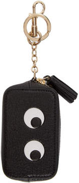 Anya Hindmarch Black Eyes Coin Purse Keychain