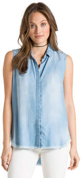 Bella Dahl Sleeveless Crossback Shirt-Vintage Zion Wash-XS