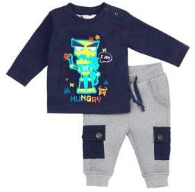 Petit Lem Baby's Two-Piece Techno City Top and Pants Set