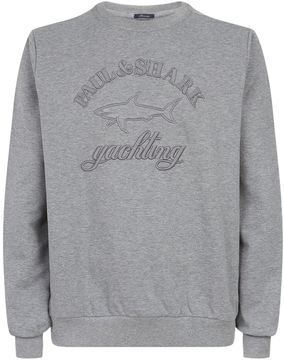 Paul & Shark Tonal Embossed Logo Sweatshirt