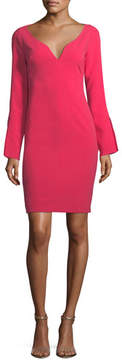 Black Halo Maxwell Mini Long-Sleeve Sheath Cocktail Dress