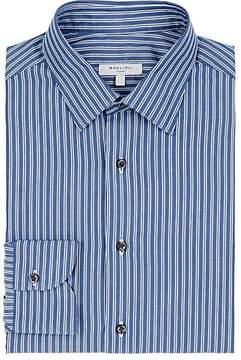 Boglioli Men's Striped Cotton Poplin Dress Shirt