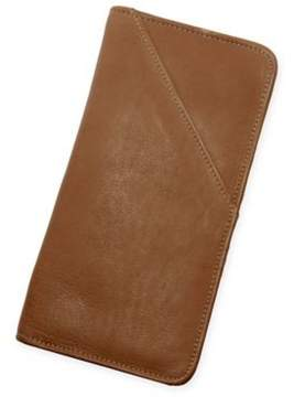 Piel Leather Executive Travel Wallet in Saddle