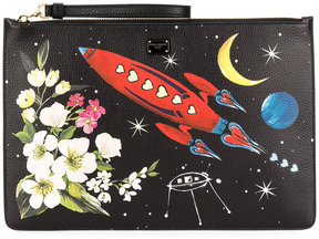 Dolce & Gabbana printed clutch - BLACK - STYLE
