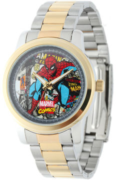 Marvel Spider-Man Mens Two-Tone Stainless Steel Watch