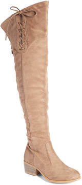Wild Diva Taupe Merry Over-the-Knee Boot