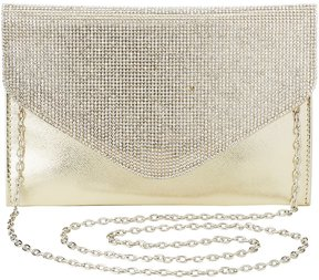 Rhinestone Convertible Evelope Clutch