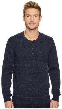 Agave Denim Hollow Long Sleeve Henley 9GG Heather Men's Long Sleeve Pullover