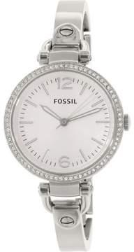 Fossil Women's Georgia ES3225 Silver Stainless-Steel Quartz Fashion Watch
