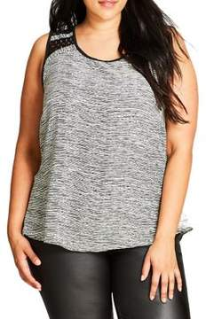City Chic Plus Sleeveless Printed Tops