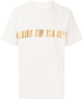 Universal Works metallic stripe T-shirt