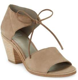 Eileen Fisher Ann Beile Self-Tie Leather Sandals