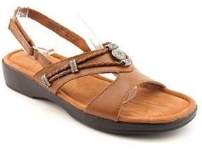 Minnetonka Silvie Women W Open-toe Leather Brown Slingback Sandal.
