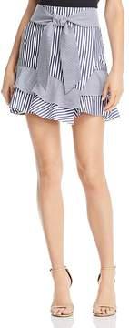 Aqua Striped Ruffle-Hem Skirt - 100% Exclusive