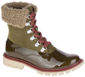 CAT Footwear Dark Olive Hub Hiker Leather Ankle Boot