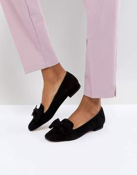 Dune London Graciano Suede Flat Show with Bow