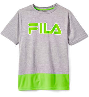 Fila Lime 'Fila' Logo Color-Block Tee - Boys