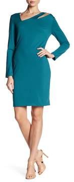 Alexia Admor Asymmetrical Neck Sheath Dress