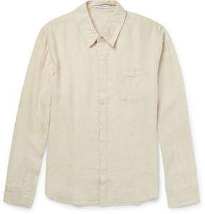 James Perse Slim-Fit End-On-End Linen Shirt