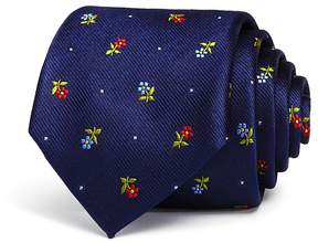 Bloomingdale's The Men's Store at Micro Floral Skinny Tie - 100% Exclusive