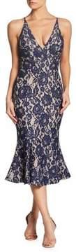 Dress the Population Lace Mermaid Midi Dress