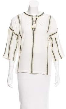 Figue Dhyana Metallic-Trimmed Blouse