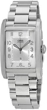 Oris Rectangular Silver Dial Stainless Steel Men's Watch 561-7693-4061MB