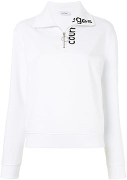 Courreges polo neck logo jumper